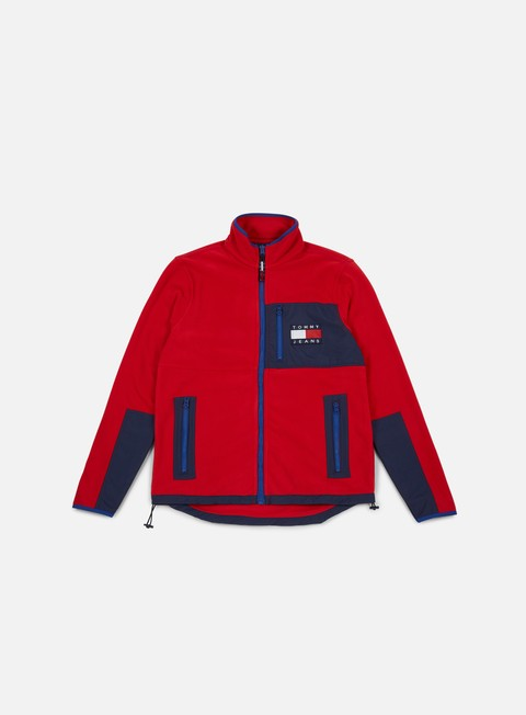 felpe tommy hilfiger tj 90s polar fleece salsa multi
