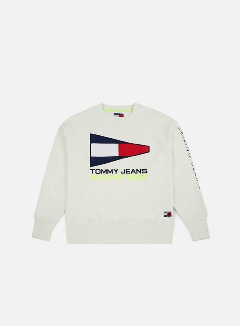 felpe tommy hilfiger tj 90s sailing logo crewneck bright white