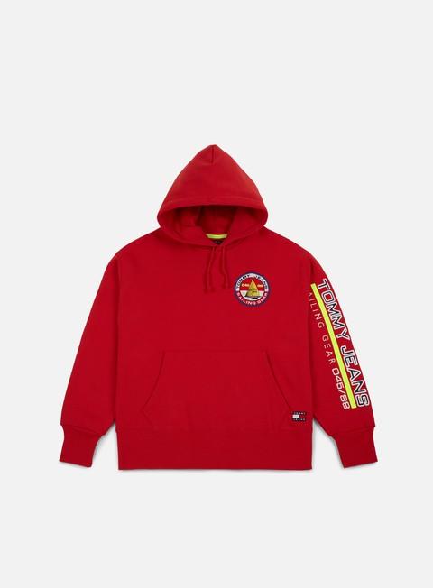 felpe tommy hilfiger tj 90s sailing logo hoodie barbados cherry