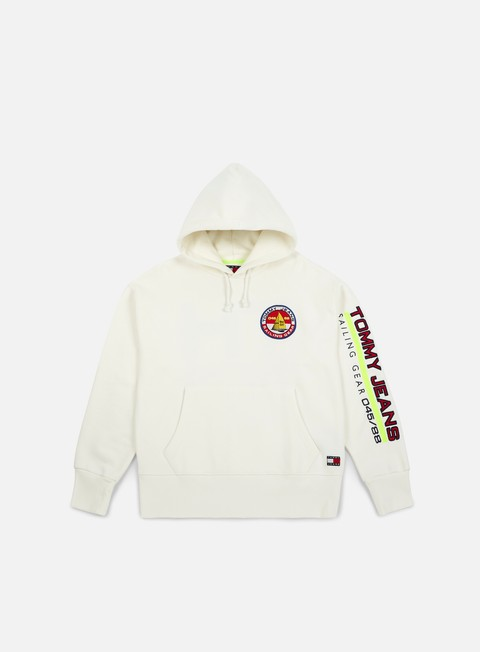 felpe tommy hilfiger tj 90s sailing logo hoodie bright white