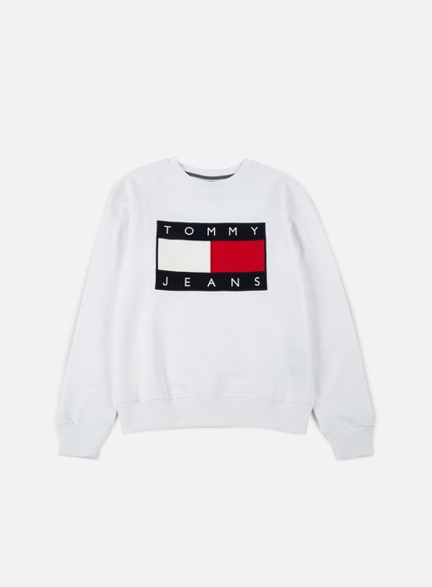 felpe tommy hilfiger tj 90s sweatshirt crewneck classic white