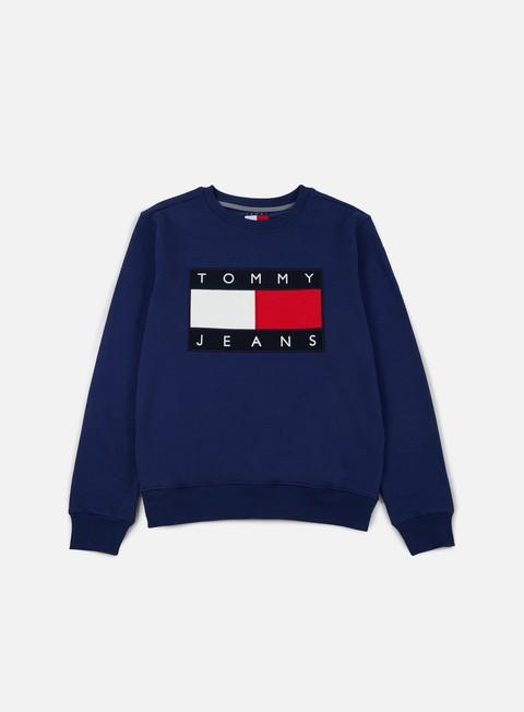 felpe tommy hilfiger tj 90s sweatshirt crewneck medieval blue