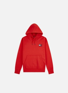 Tommy Hilfiger - TJ Badge Hoodie, Deep Crimson