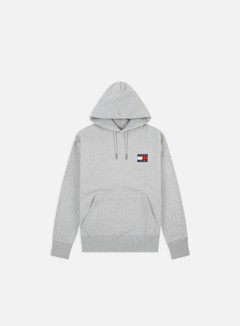 Tommy Hilfiger - TJ Badge Hoodie, Light Grey Heather