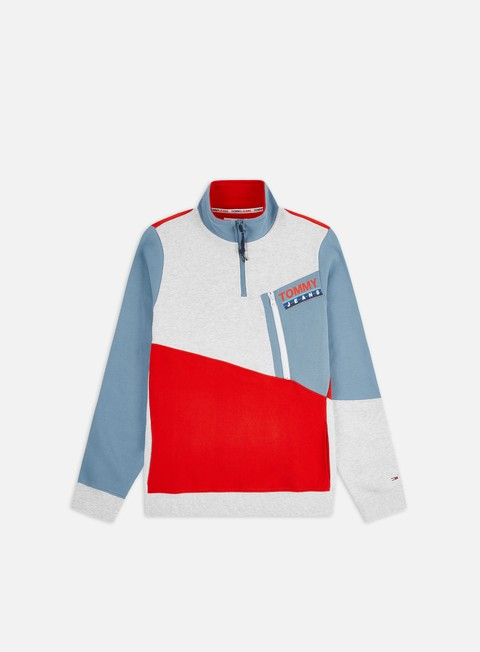 Felpe con Zip Tommy Hilfiger TJ Colorblock Zip Mock Neck
