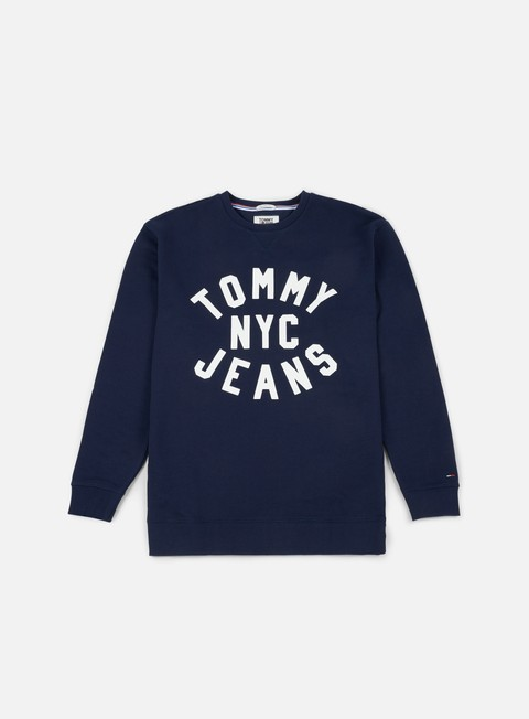 felpe tommy hilfiger tj essential graphic crewneck black iris