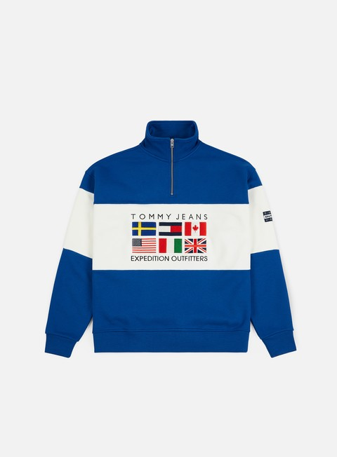 Sale Outlet Zip Sweatshirts Tommy Hilfiger TJ Expedition Half Zip Sweatshirt