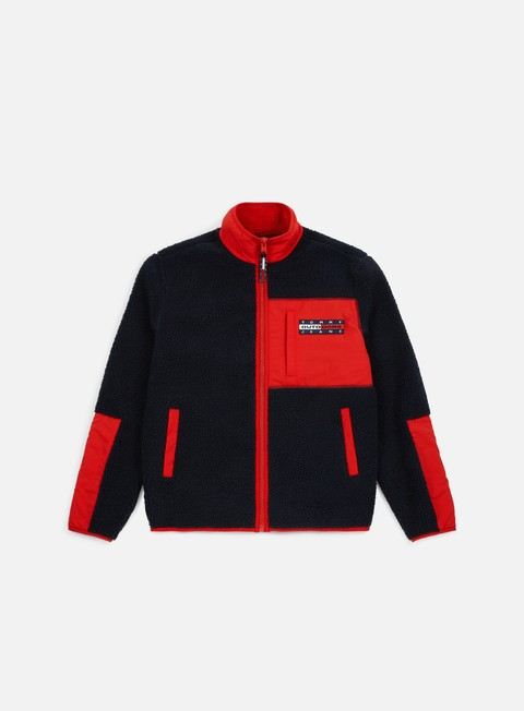 Outlet e Saldi Maglioni e Pile Tommy Hilfiger TJ Flag Zipthru Fleece Jacket