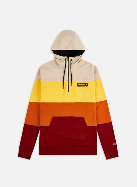 Sale Outlet Hooded Sweatshirts Tommy Hilfiger TJ Half Zip Colorblocked Hoodie