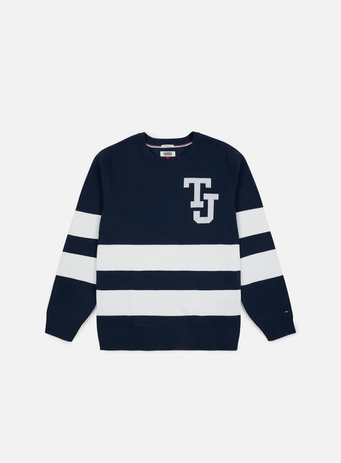 Sweaters and Fleeces Tommy Hilfiger TJ Logo Stripe Sweater