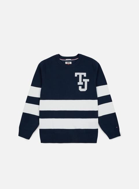 Outlet e Saldi Maglioni e Pile Tommy Hilfiger TJ Logo Stripe Sweater