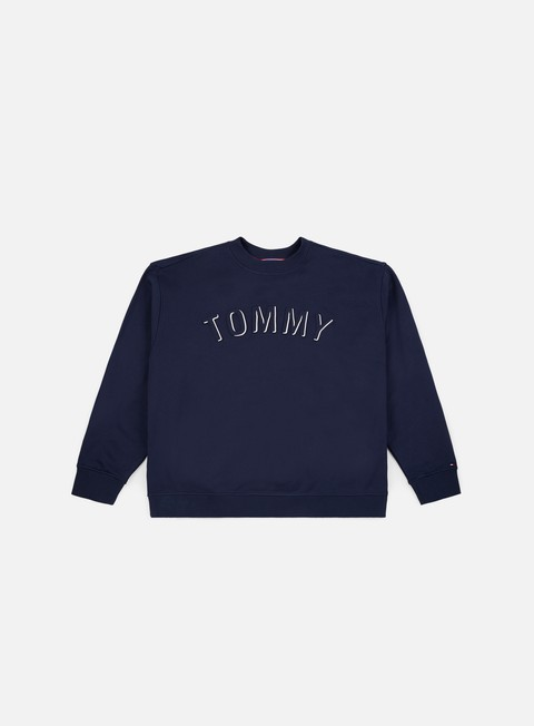 Sale Outlet Crewneck Sweatshirts Tommy Hilfiger TJ Outline Logo Crewneck
