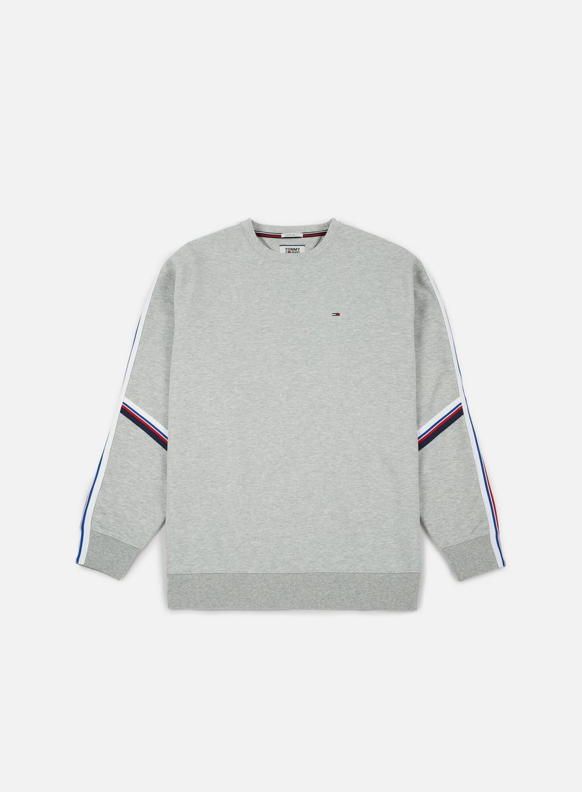 ... Tommy Hilfiger - TJ Racing Stripe Crewneck, Light Grey Heather 1 ...