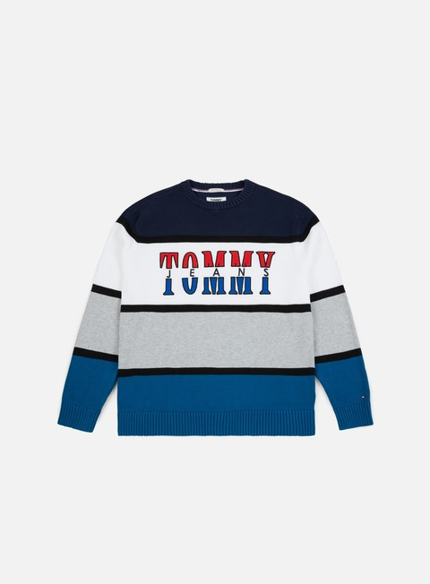 felpe tommy hilfiger tj retro colorblock sweater blue sapphire multi