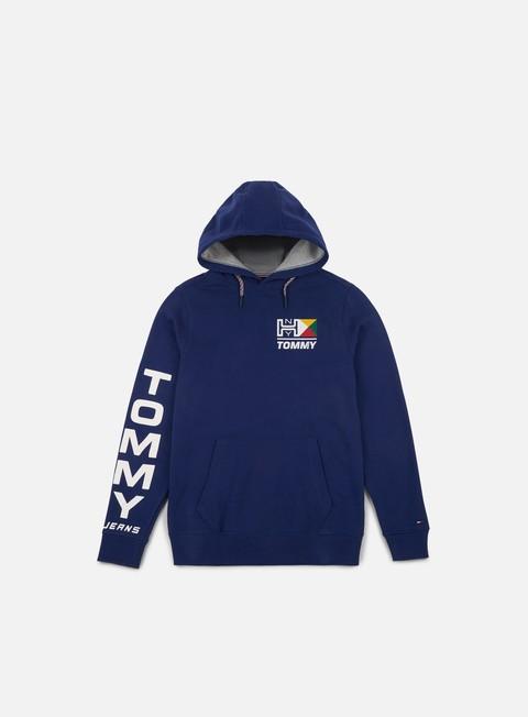 felpe tommy hilfiger tj retro logo hoodie blue depths