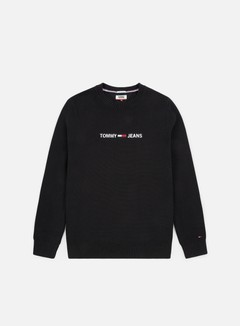 Tommy Hilfiger - TJ small Logo Sweatshirt, Tommy Black
