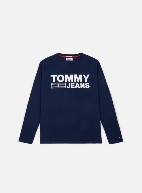 felpe tommy hilfiger tj solid logo sweater black iris