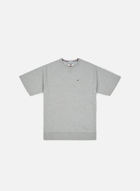 felpe tommy hilfiger tj summer short sleeve crewneck light grey heather