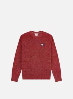 Tommy Hilfiger - TJ Tommy Badge Texture Sweater, Wine Red/Ecru