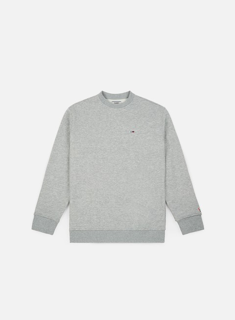 felpe tommy hilfiger tj tommy classic crewneck light grey heather