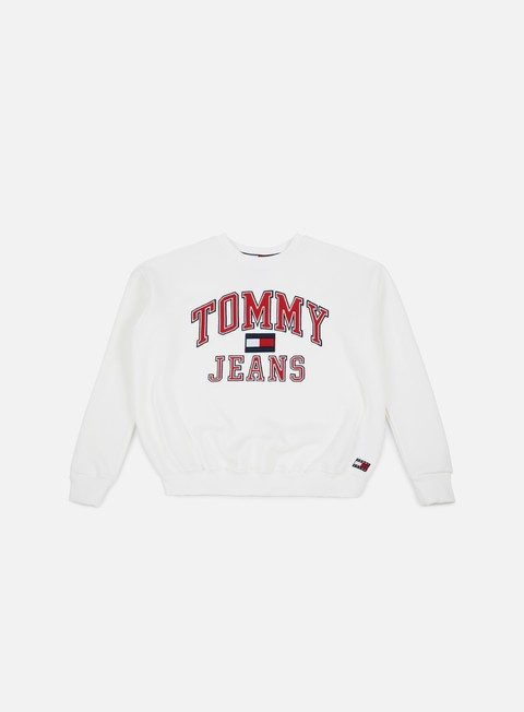 felpe tommy hilfiger wmns tj 90s crewneck sweatshirt bright white