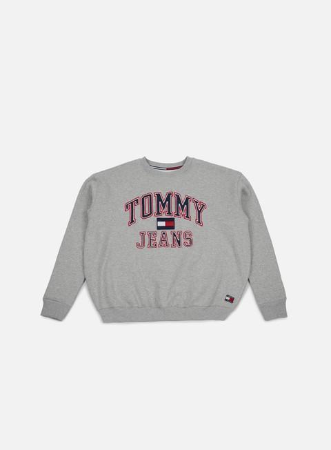felpe tommy hilfiger wmns tj 90s crewneck sweatshirt grey marl