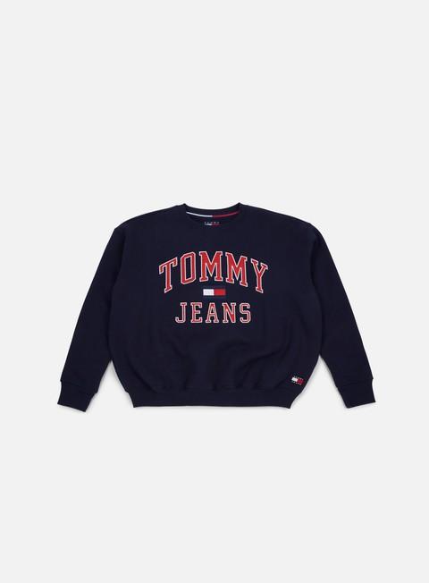 felpe tommy hilfiger wmns tj 90s crewneck sweatshirt peacoat