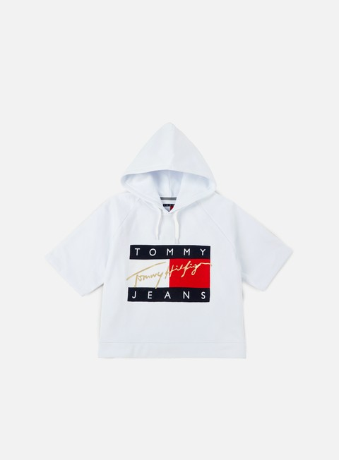 felpe tommy hilfiger wmns tj 90s cropped hoody classic white