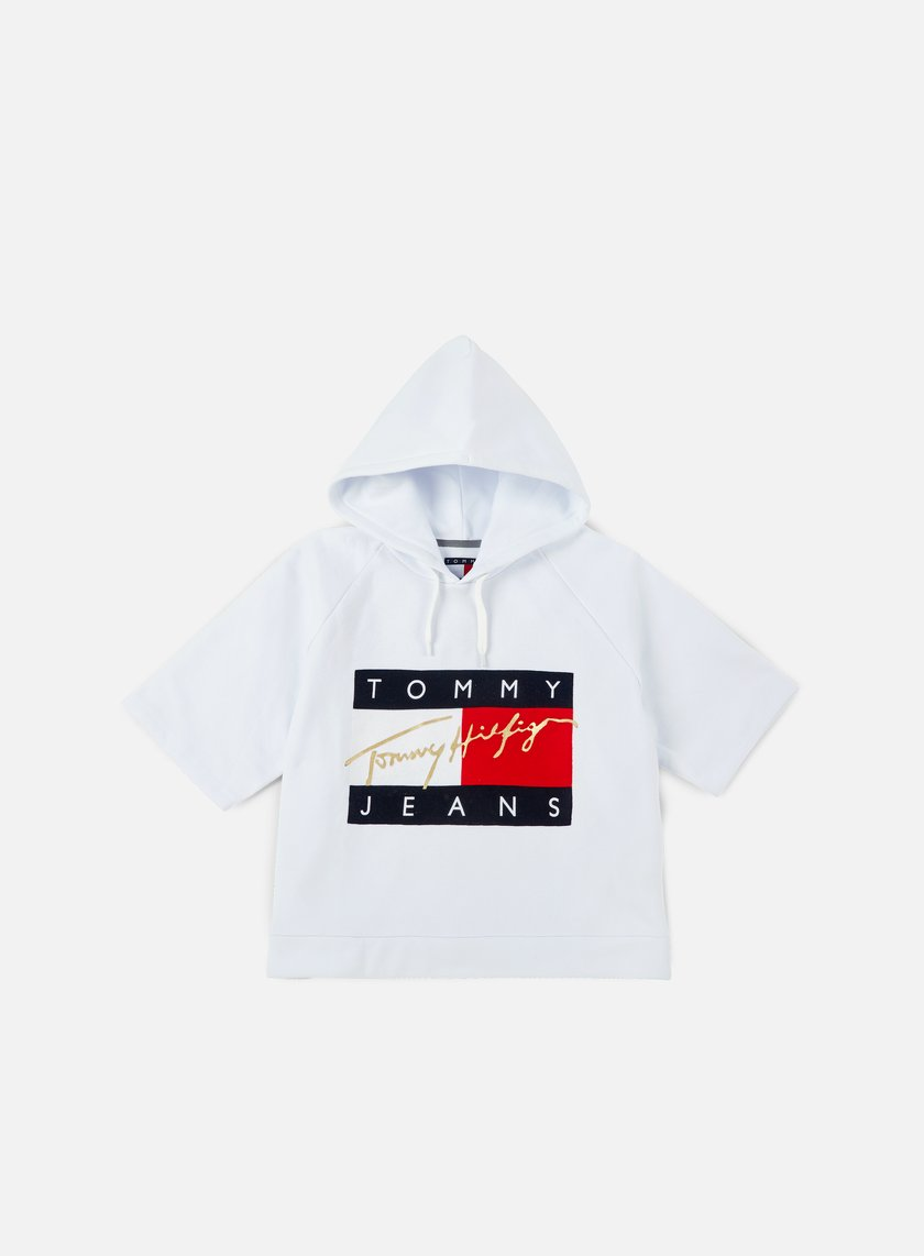 Tommy Hilfiger - WMNS TJ 90s Cropped Hoody, Classic White