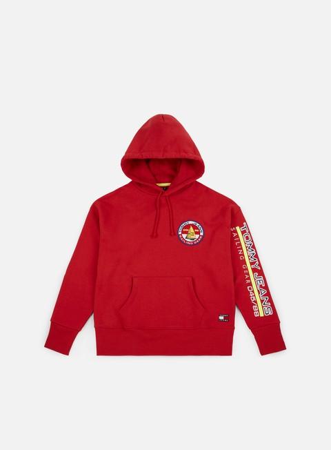 felpe tommy hilfiger wmns tj 90s sailing logo hoodie barbados cherry