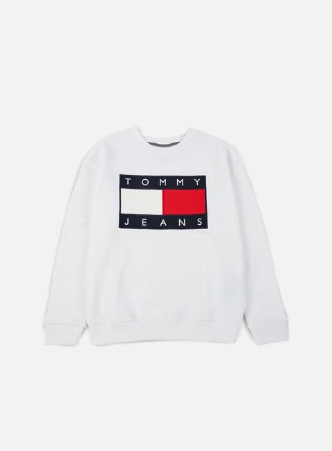 felpe tommy hilfiger wmns tj 90s sweatshirt crewneck classic white