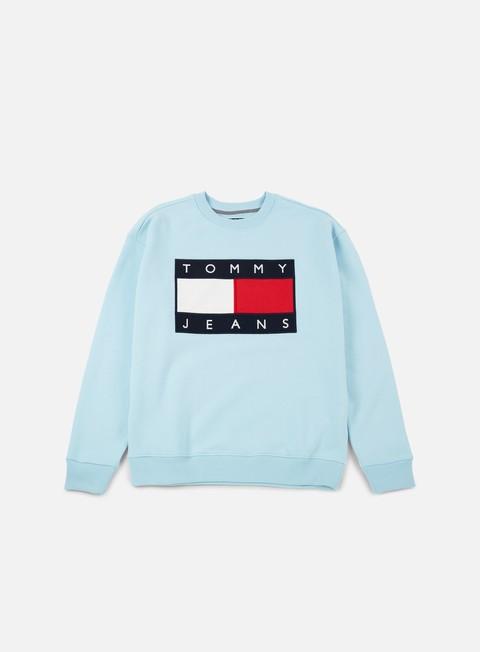felpe tommy hilfiger wmns tj 90s sweatshirt crewneck corydalis blue