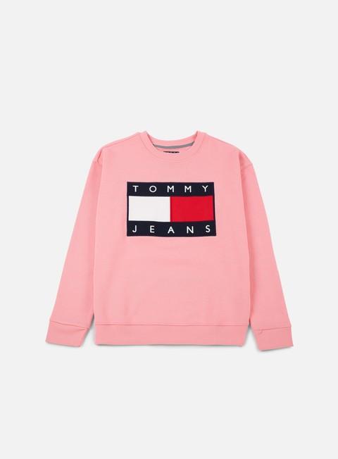 felpe tommy hilfiger wmns tj 90s sweatshirt crewneck quartz pink