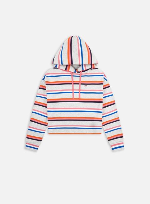 Hoodie Tommy Hilfiger WMNS TJ BXY Cropped Multi Stripe Hoodie