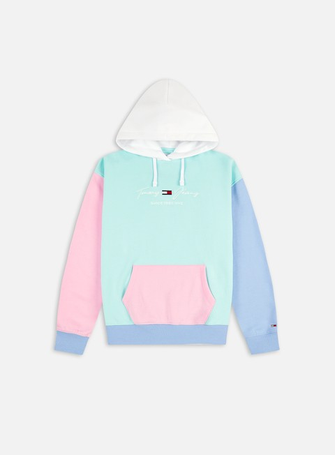 Hooded Sweatshirts Tommy Hilfiger WMNS TJ Color Block Hoodie