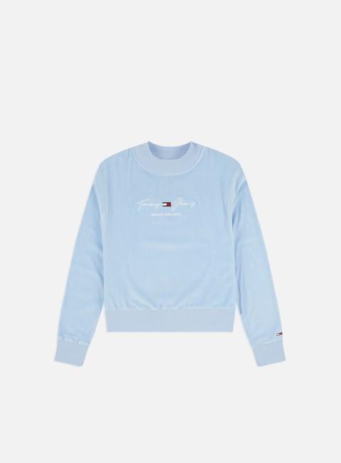 Crewneck Sweatshirts Tommy Hilfiger WMNS TJ Pastel Velour Crewneck