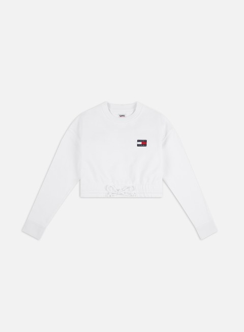 Felpe Girocollo Tommy Hilfiger WMNS TJ Super Cropped Badge Crewneck