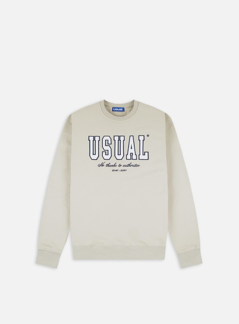 Felpe Girocollo Usual No Thanks Crewneck