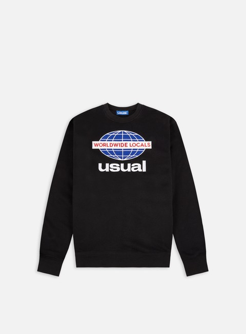 Crewneck Sweatshirts Usual Worldwide Locals Crewneck