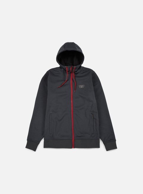 felpe vans brockwell zip hoodie new charcoal