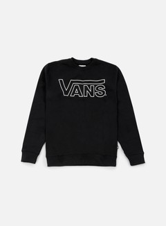 Vans - Classic Crewneck, Black/White Outline
