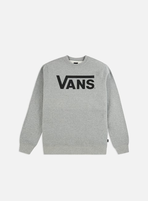 felpe vans classic crewneck concrete heather black