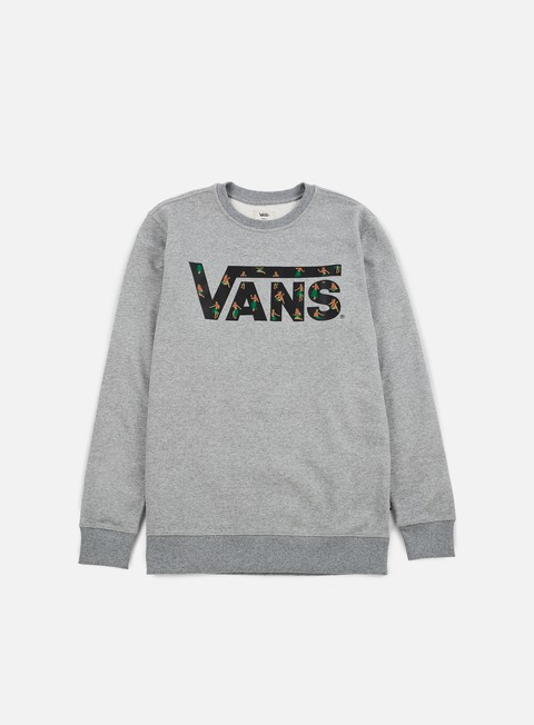 felpe vans classic crewneck concrete heather black hula daze