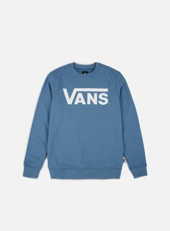 Vans - Classic Crewneck, Coper Blue Heather/White