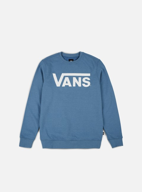 felpe vans classic crewneck coper blue heather white