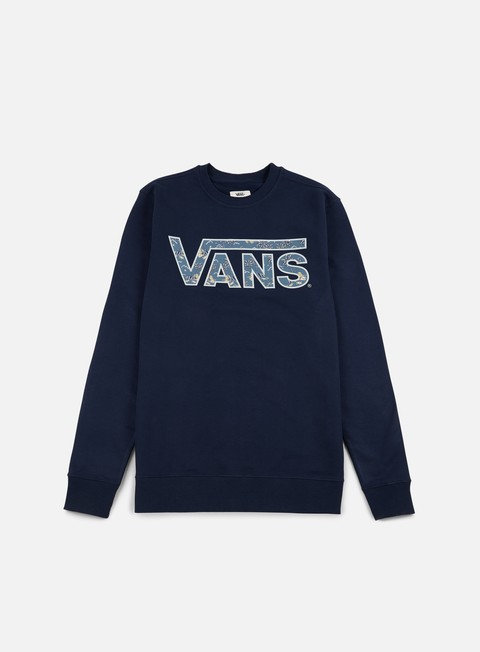 felpe vans classic crewneck dress blues blue mirage