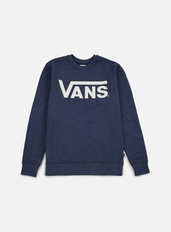 Vans - Classic Crewneck, Dress Blues/Heather Marshmallow