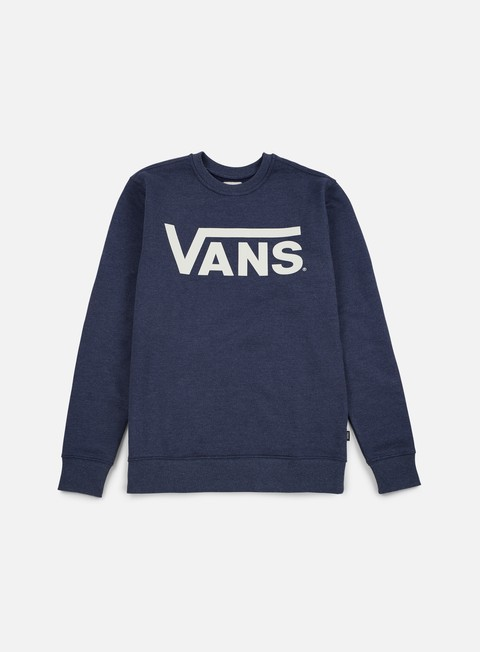 felpe vans classic crewneck dress blues heather marshmallow