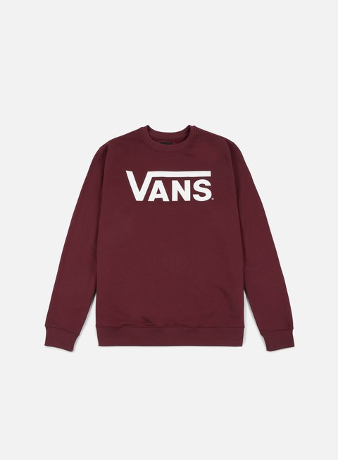 felpe vans classic crewneck port royale white