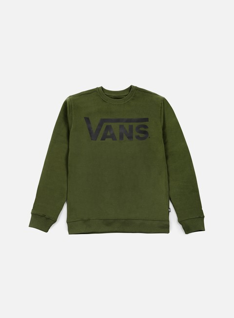 felpe vans classic crewneck rifle green black